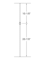 "Iron Baluster - 1/2"" Round (Ball - Single Ball) TR22"