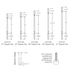 Baluster - Colonial 5141 (Square Top)