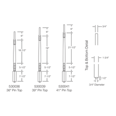 Baluster - Hampton 5300 (Pin Top)