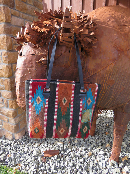 Southwestern Handwoven 100% Wool Rug Bag