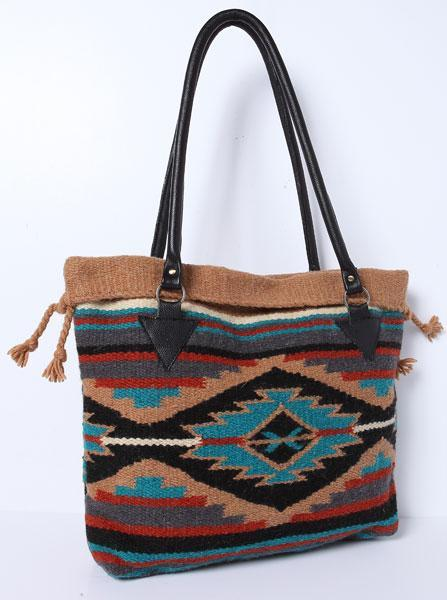Handwoven Wool Southwestern Purse
