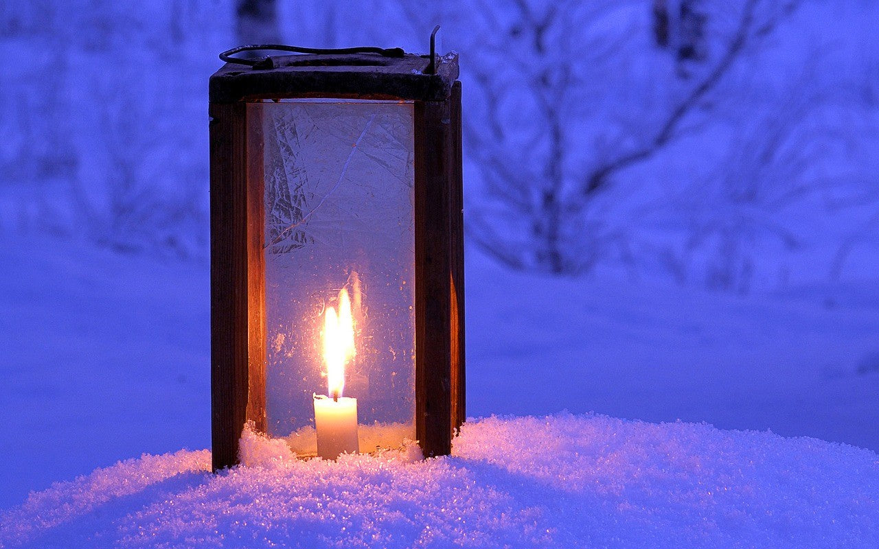 Lighted Winter Lantern