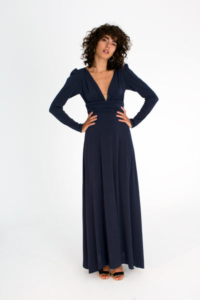 Suzy Dress in Navy