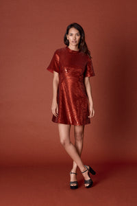 Ruby Sequin Jeanne Dress