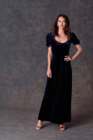 Royal Blue Velvet Merci Dress