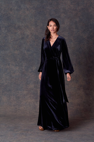 Navy Velvet Penelope Dress