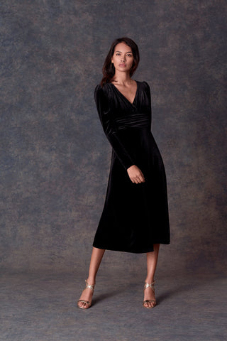 Black Velvet Suki Dress
