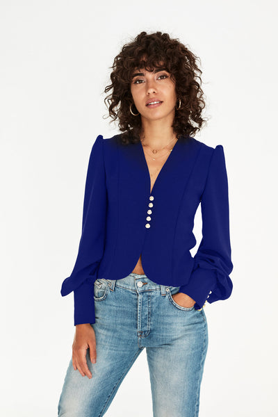 Beatrix Blouse in Navy