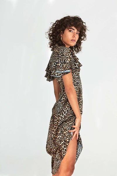 Camilla Dress in Leopard Print