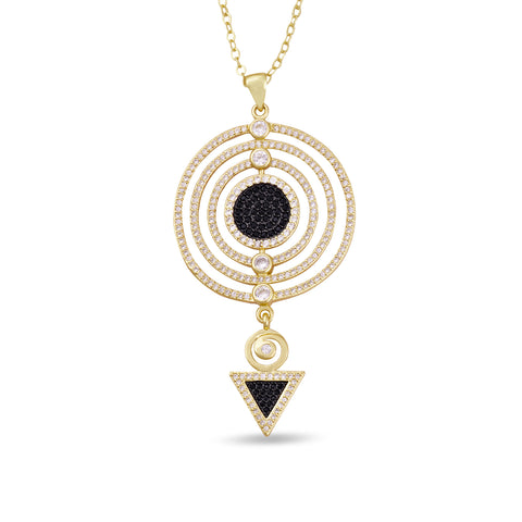 Adalia Crystal Pendant Gold Necklace