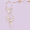 Bianca Pendant Necklace White Butterfly Purple Dew
