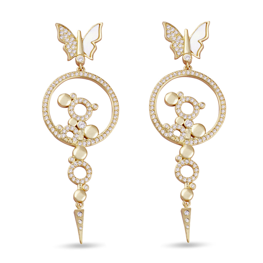 Bianca Chandelier Drop Gold Earrings