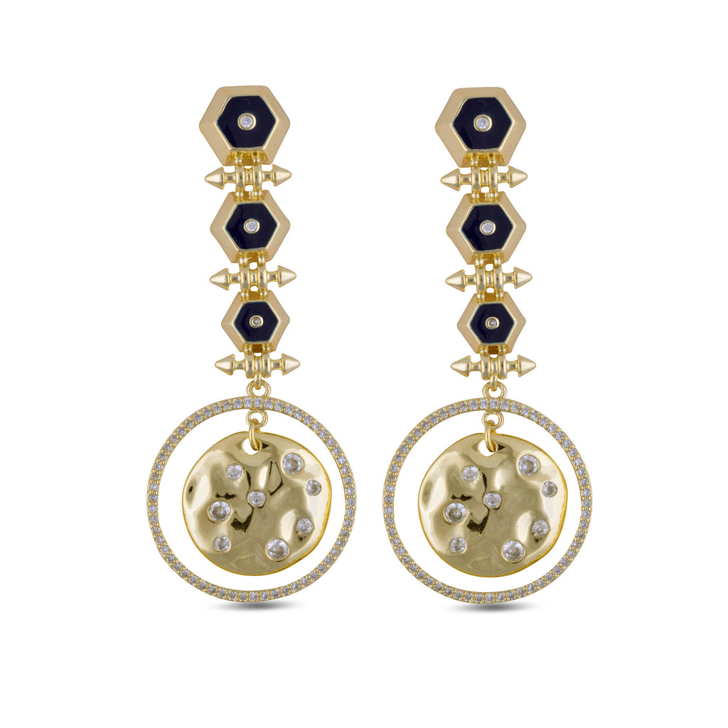 Leila Gold Drop Earrings