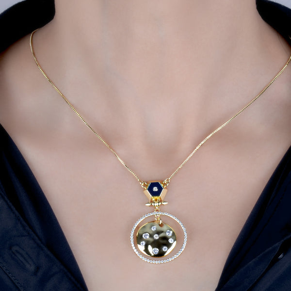 Leila Gold Disk Pendant Necklace