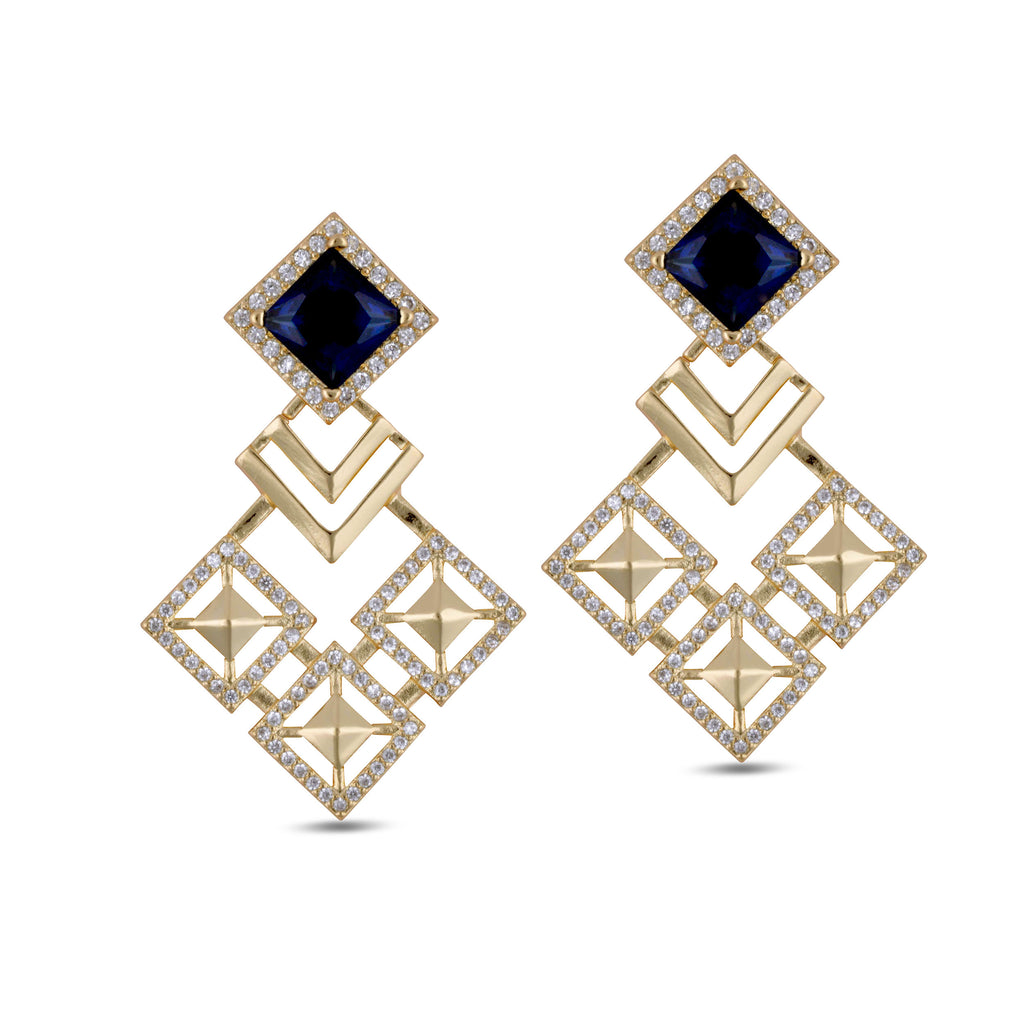 Malaya Blue Kite Drop Earrings