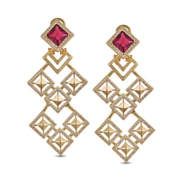 Malaya Red Kite Drop Earrings