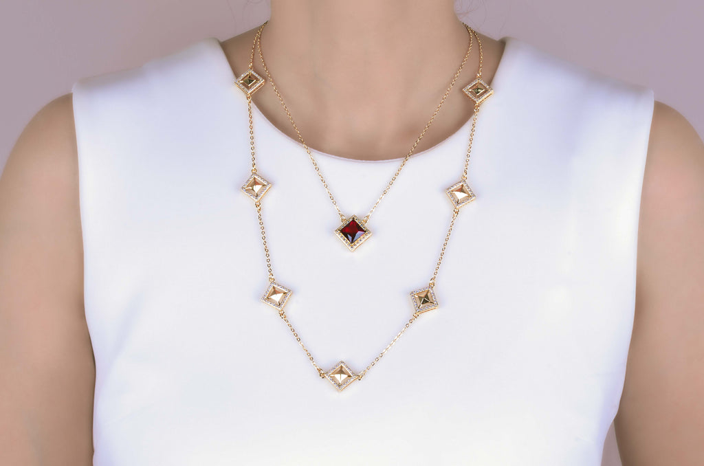 Malaya Red Kite Layer Necklace