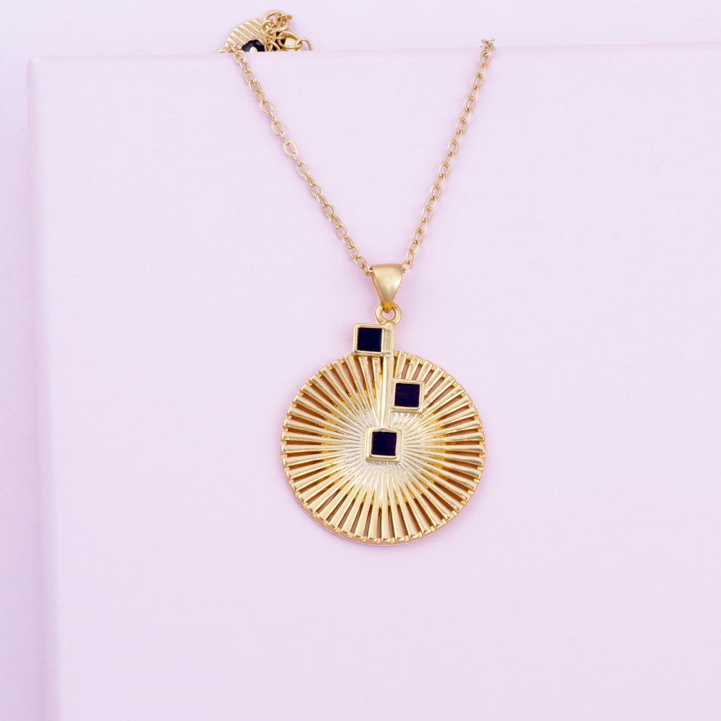 Mirasol Gold Pendant Necklace Purple Dew