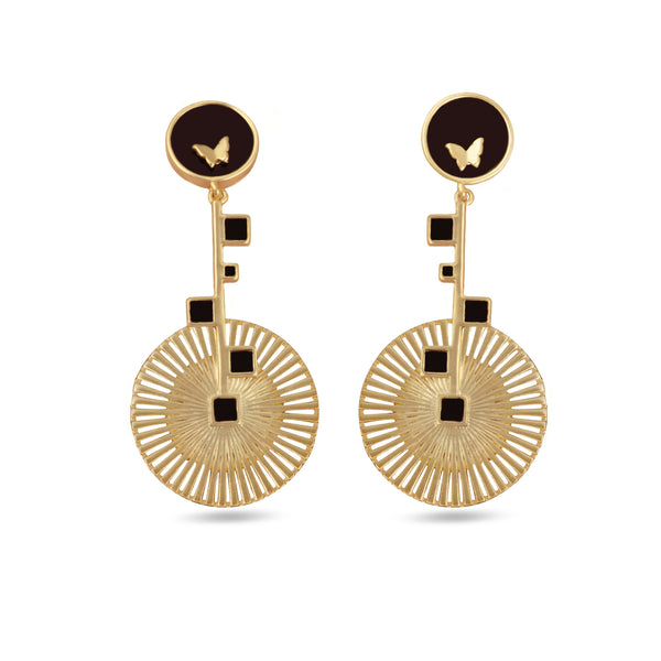 Mirasol Bloom Drop Gold Earrings