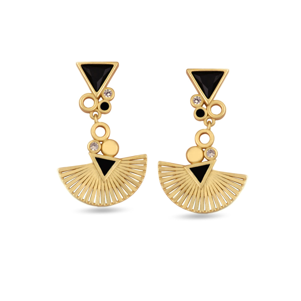 Mirasol Radiance Drop Gold Earrings