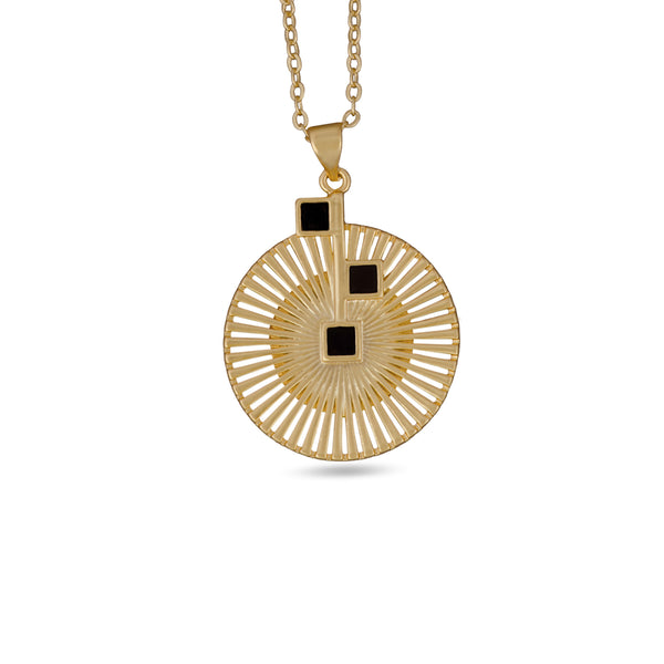Mirasol Bloom Pendant Gold Necklace