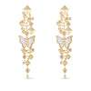 Nava White Mother of Pearl Butterfly Drop Earrings
