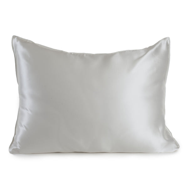 Silk Pillowcase, White, mulberry silk - Mari Ann