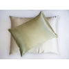 Charmeuse Silk Pillowcase , green- Mari Ann