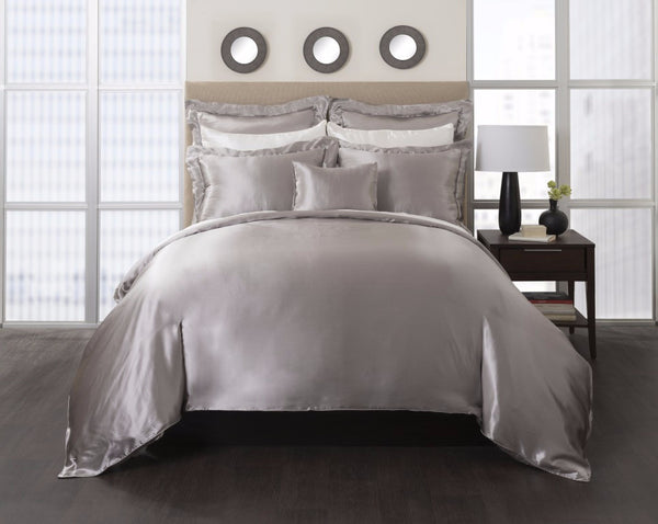 Charmeuse Silk Duvet Cover , mulberry silk- Mari Ann