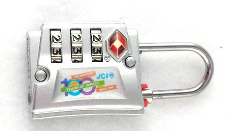 JCI 100th Anniversary Luggage Lock