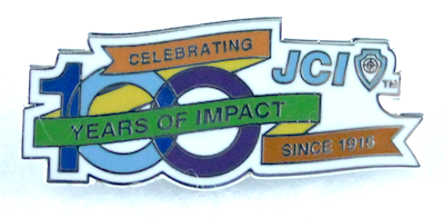 JCI 100th Anniversary Logo Pin