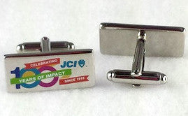 Rectangle JCI 100th Anniversary Cufflinks