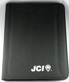 Black Nylon Zip Folder