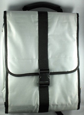 Silver Folding Computer Backpack