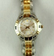 JCI Gold/Silver Fossil Watch - Women's