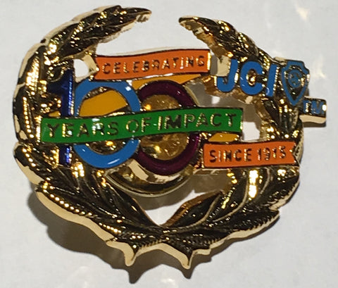 JCI 100th Anniversary Wreath Pin