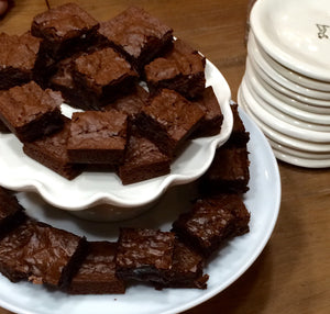 Spiced Dark Chocolate Brownies