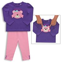 2 Piece Girl Peek a Boo Set Bear