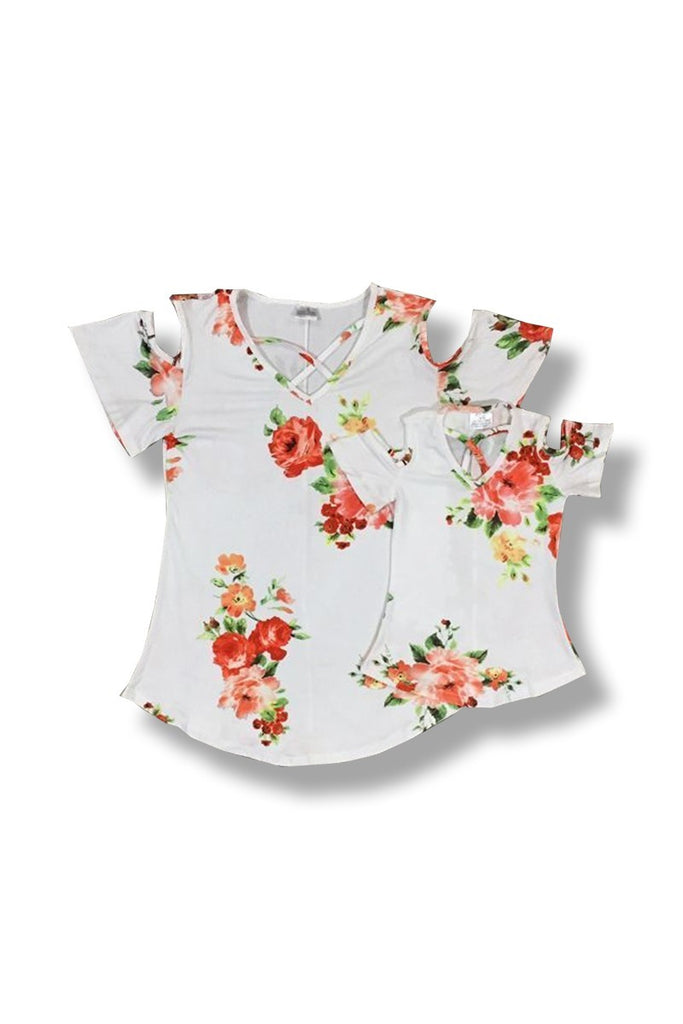Toddler Red Flower Top