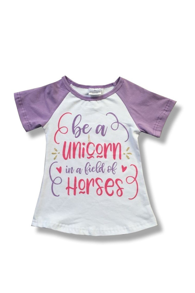Girls Be A Unicorn Tee