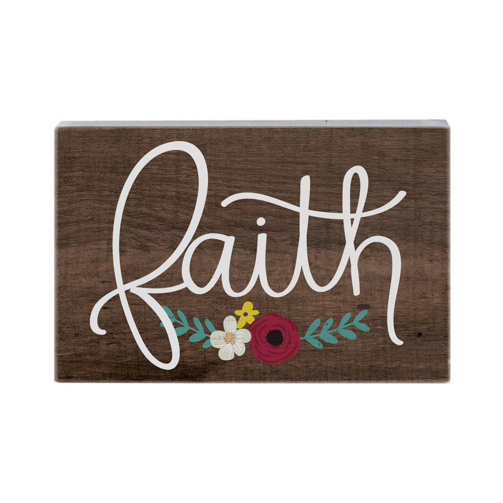 Faith Wood Block