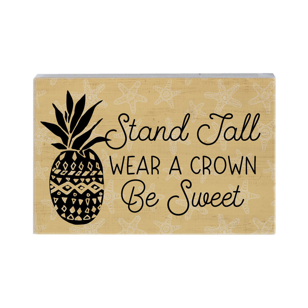 Be Sweet Wood Block