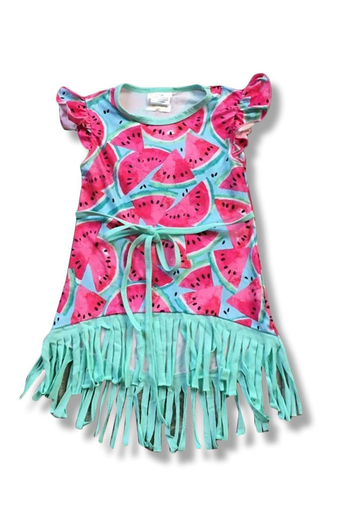 Girls Watermelon Tussle Dress