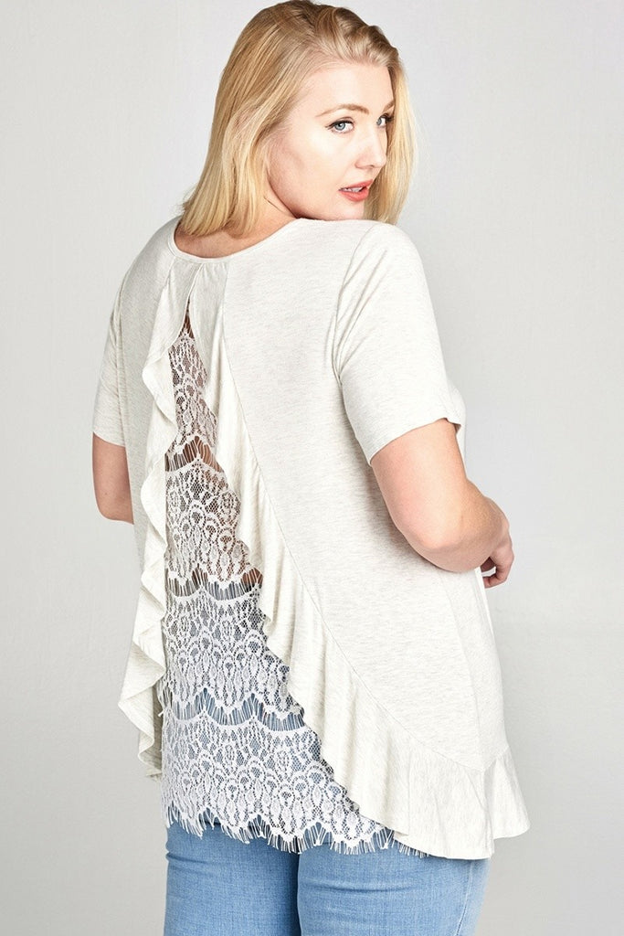 Summer Lace Plus Top