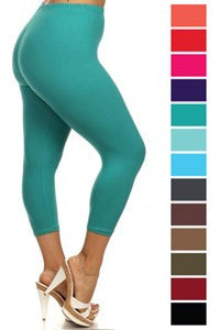 Plus Super Soft Capri Leggings