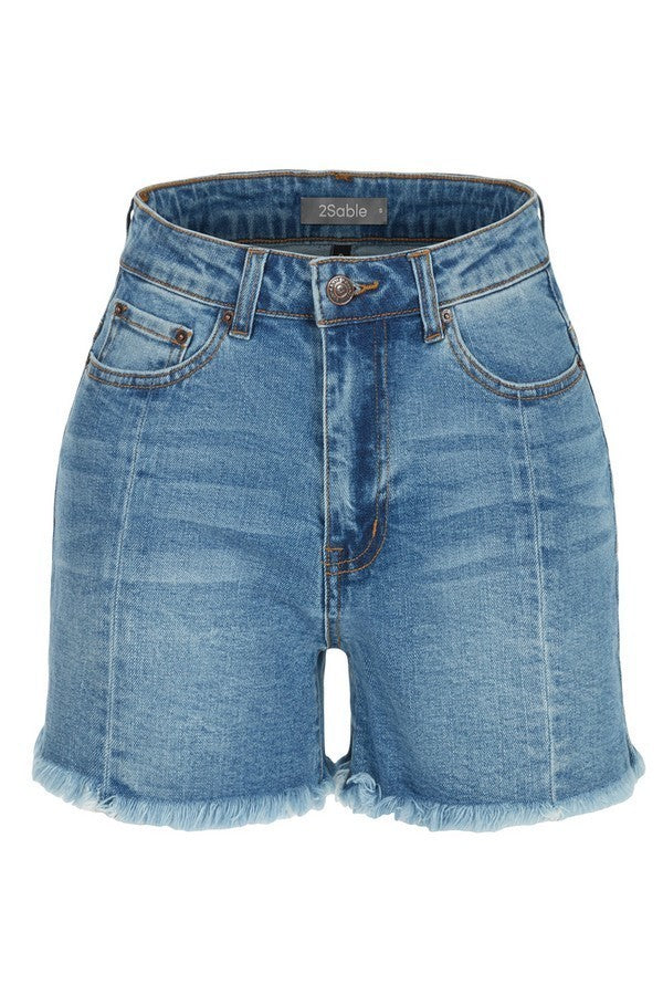 Vintage High Rise Frayed Shorts