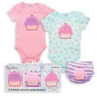 Baby Bodysuit and Bloomer Set - Cupcake Cutie