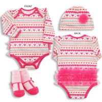 Baby Bodysuit with Hat and Booties