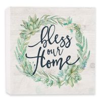 Bless Our Home Wood Block Sign