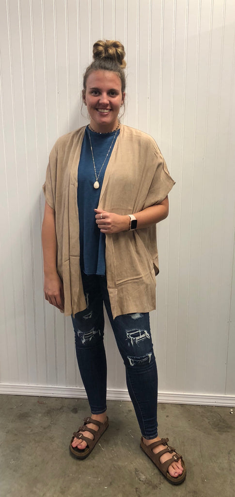 Solid Kimono with Side Slit
